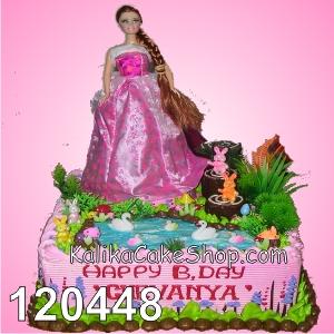 Kue Ulang Tahun barbie taman