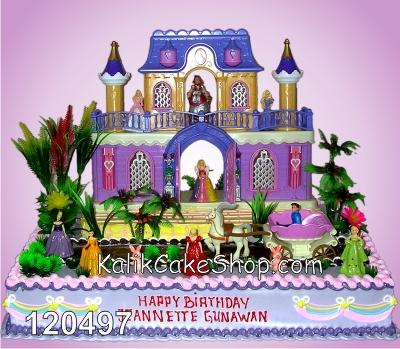 Kue Ulang Tahun Istana Barbie 40x60