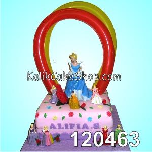 Kue Ulang Tahun Cinderella Balon