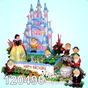 Kue Ulang Tahun Snow White Biru