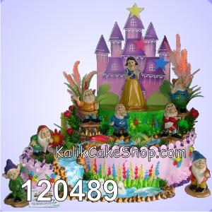 Kue Ulang Tahun Snow White ungu