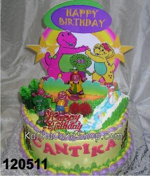 Kue Ulang Tahun Barney Backgroud