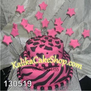 Kue Ulang Tahun Pink Loreng