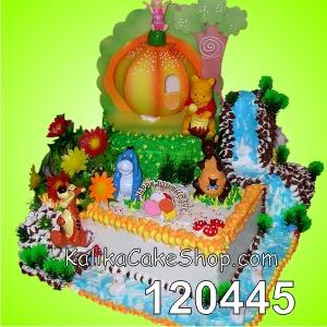 Kue Ulang Tahun Winnie the pooh pohon