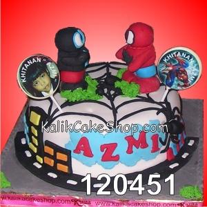 Kue Ulang Tahun spiderman