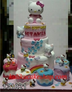 Kue Ulang Tahun Hello Kitty Oktavia