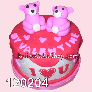 Cake Valentine Panda