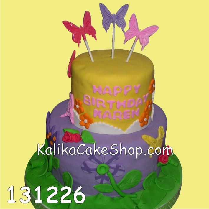 Kue Ulang Tahun Butterfly Karen