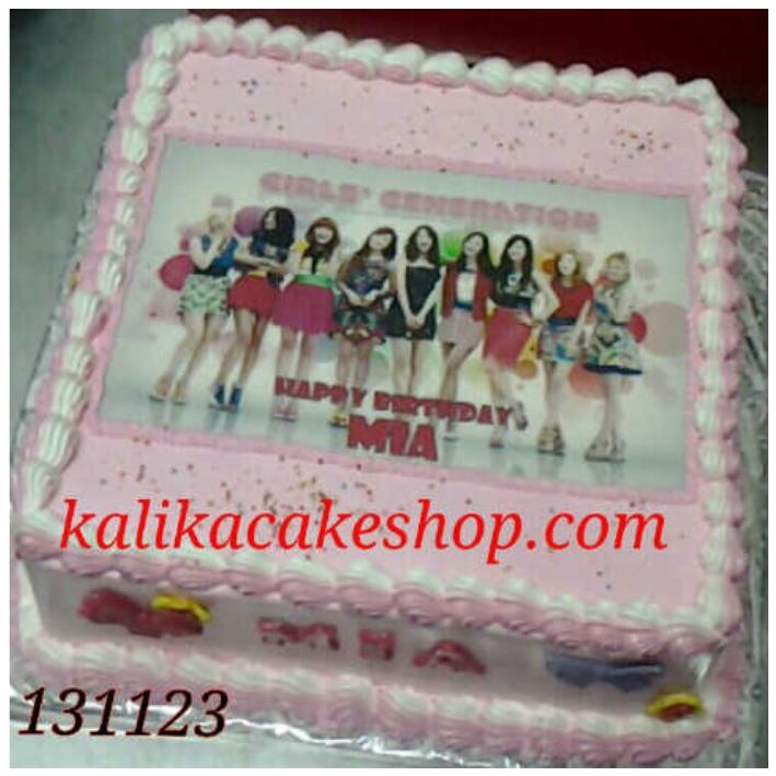 Kue Ulang Tahun Edible Photo Mia