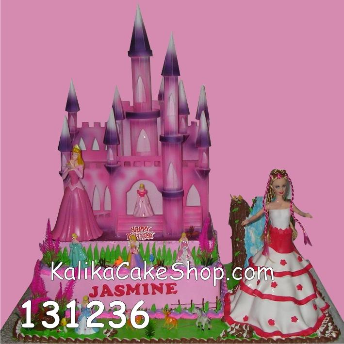 Kue Ulang Tahun Istana Barbie Jasmine