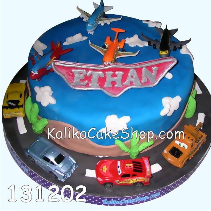 Kue ulang tahun Cars planes Ethan