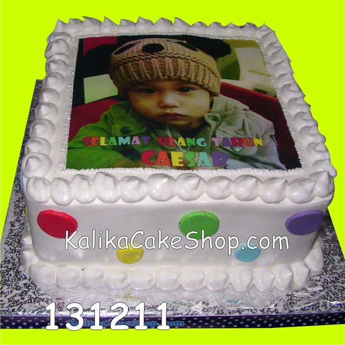 Kue ulang tahun Edible Photo Caesar