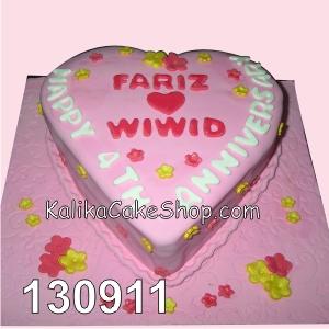 cake hati fariz