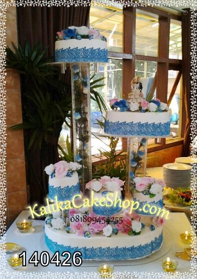 Wedding Cake Variasi Biru