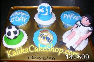 Kue Ulang Tahun 6set Real Madrid