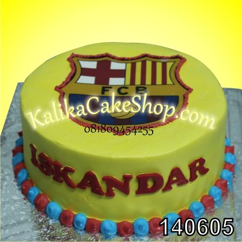 Kue Ulang Tahun Logo Barcelona