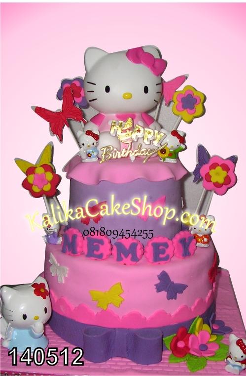 kue ulang hello kitty tahun nemei