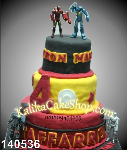 kue ulang tahun iron man taffarrel
