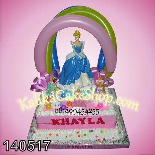 kue ulang tahun princess cinderella khayla