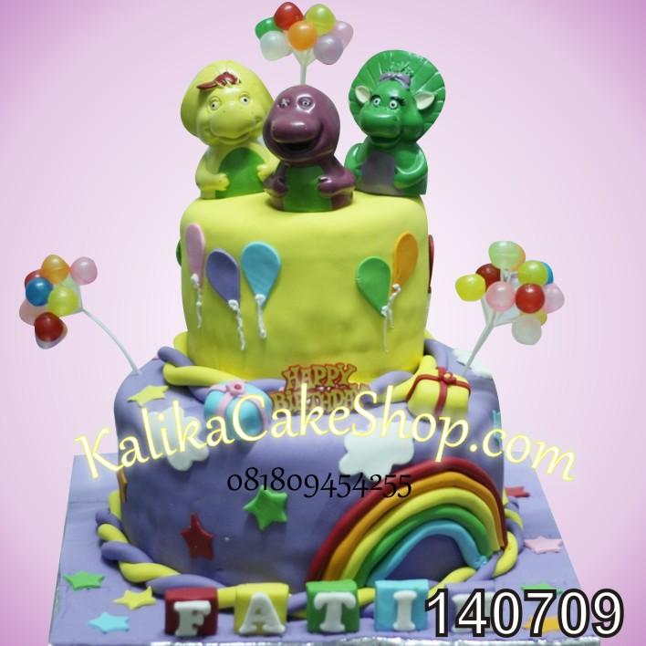 Kue Ulang Tahun Barney Fatih