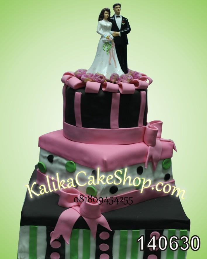 Kue Wedding Susun # Variasi Hijau