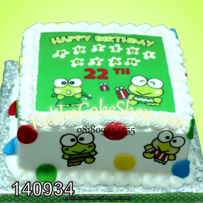 Kue Ulang Tahun Keropi Polkadot
