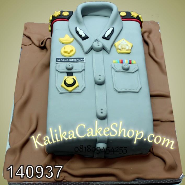 Kue Ulang Tahun Seragam Polisi Dadang S