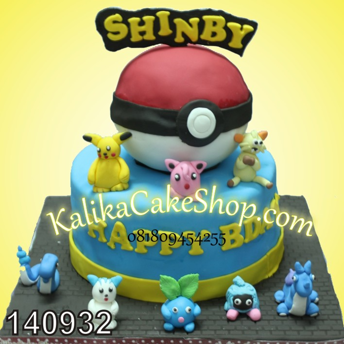 Kue Ulang tahun Pokemon Shinby