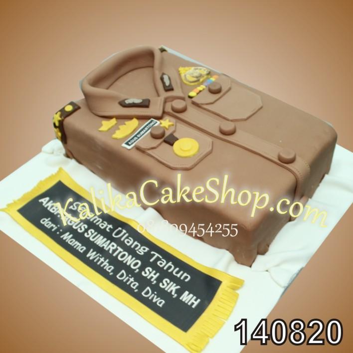 Seragam Polisi Cake