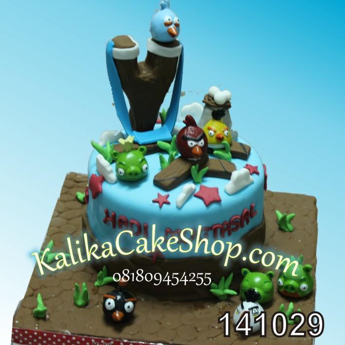 Kue Ualng Tahun Angry Bird hadi