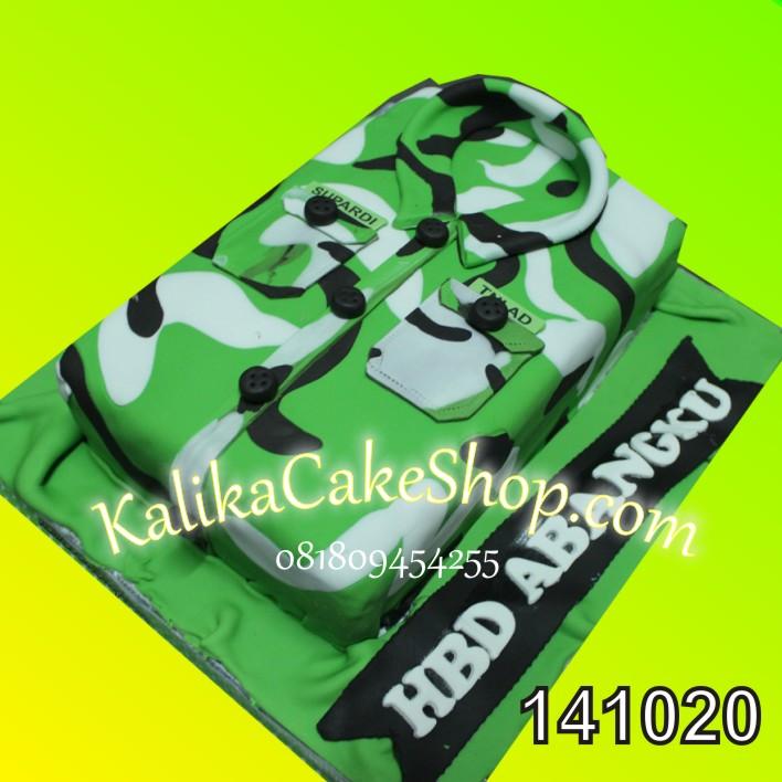 Kue Ulang Tahun Baju TNI