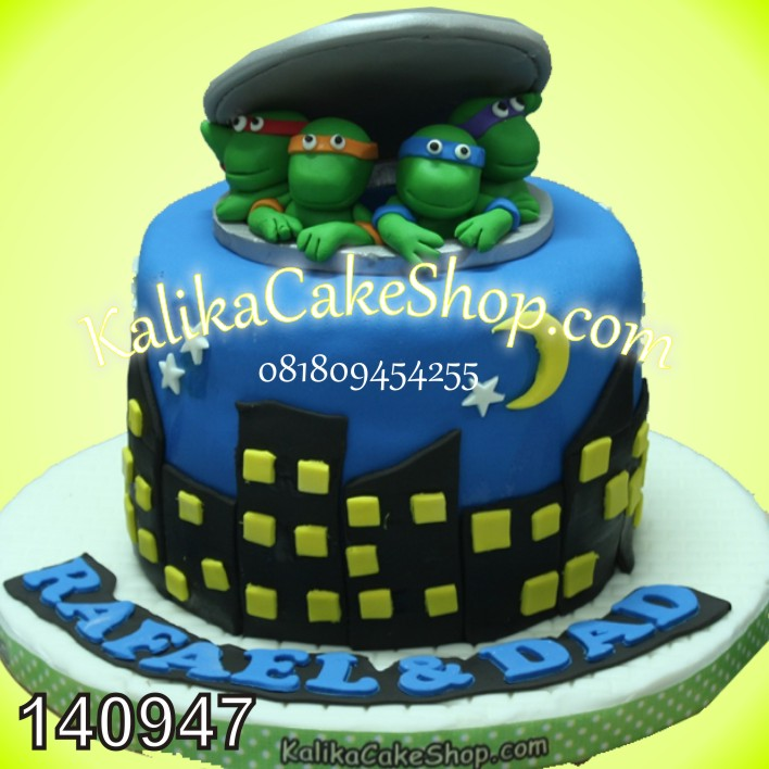 Kue Ulang Tahun Ninja turtle Rafael