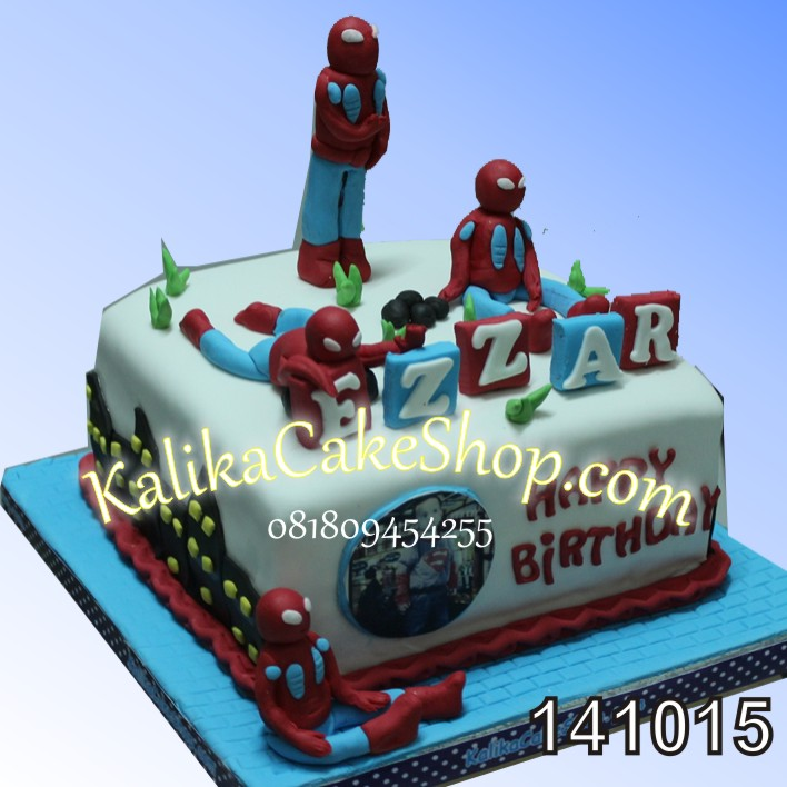 Kue Ulang Tahun Spiderman Ezzar