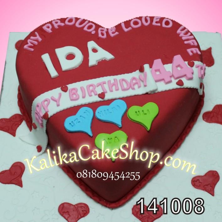 kue Ulang Tahun Hati Ida