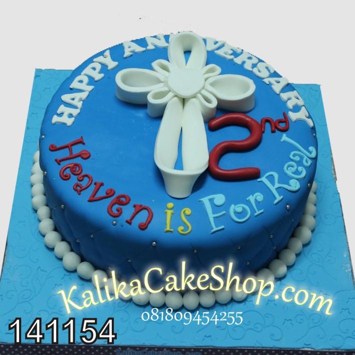Kue Anniversary Biru