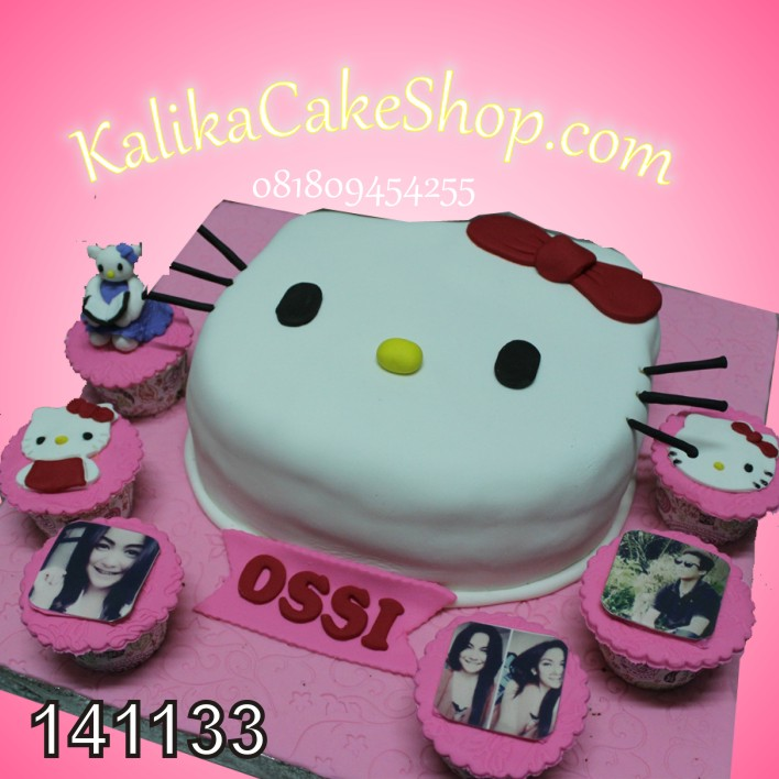 Kue Ulang Tahun Hello Kitty Dan cup Cakes