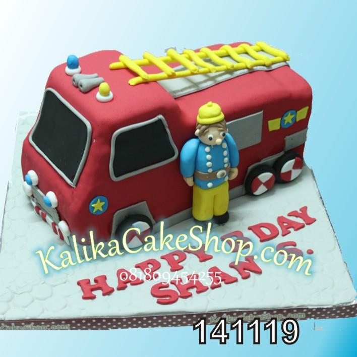 Kue Ulang Tahun Mobil Pemadam