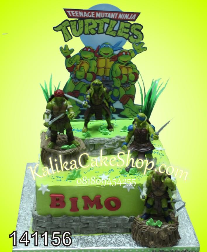 Kue Ulang Tahun Ninja Turtle Bimo