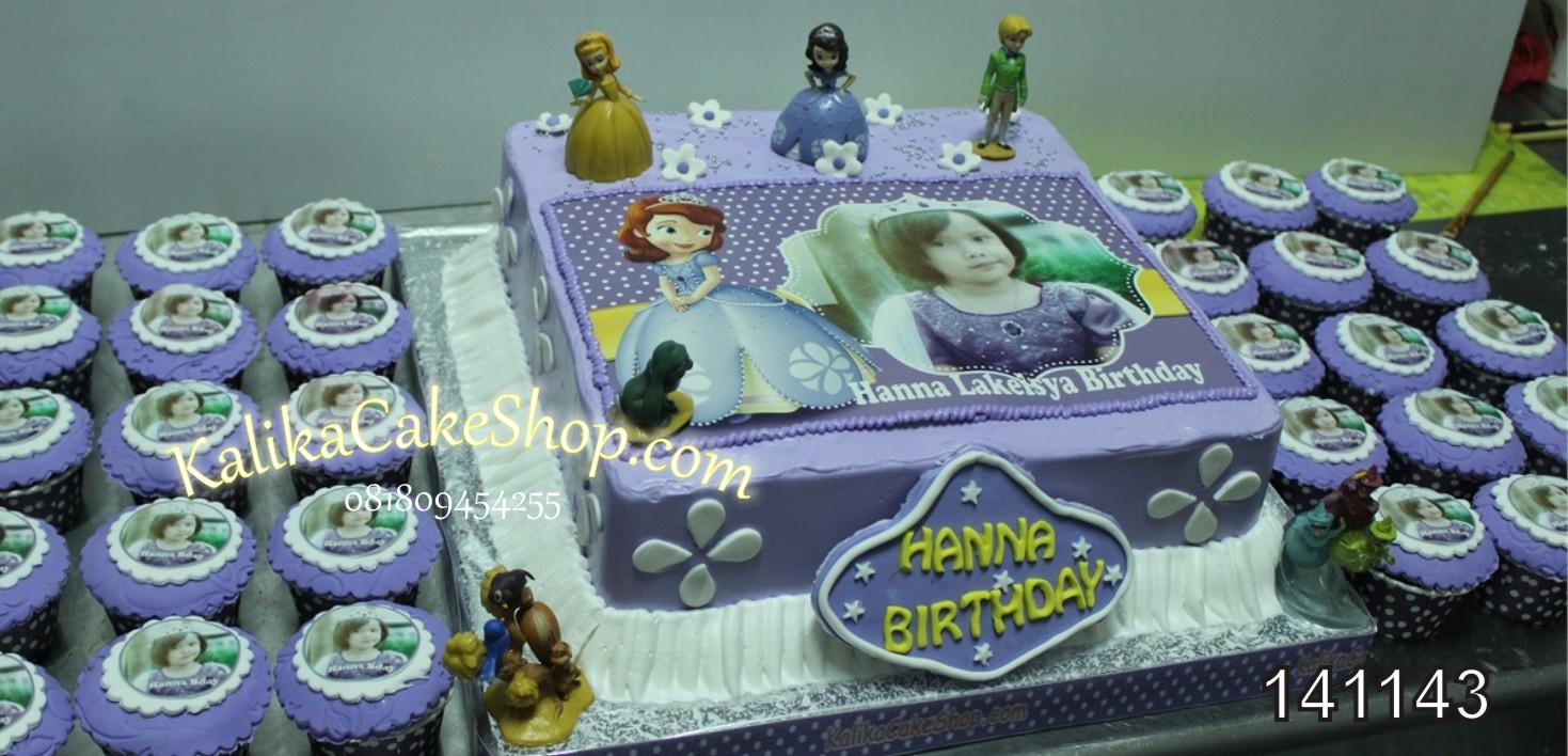 Kue Ulang Tahun Sofia dan Cup Cakes