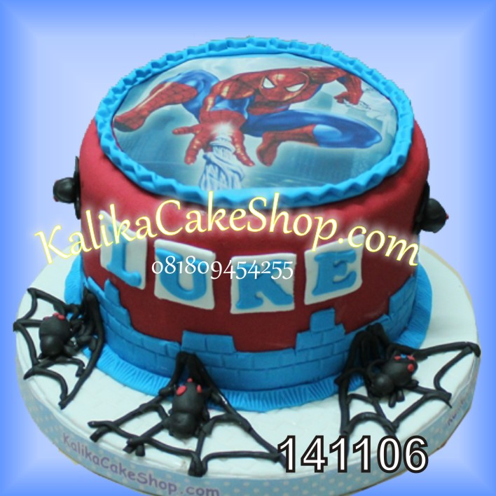 Kue Ulang Tahun spiderman Luke