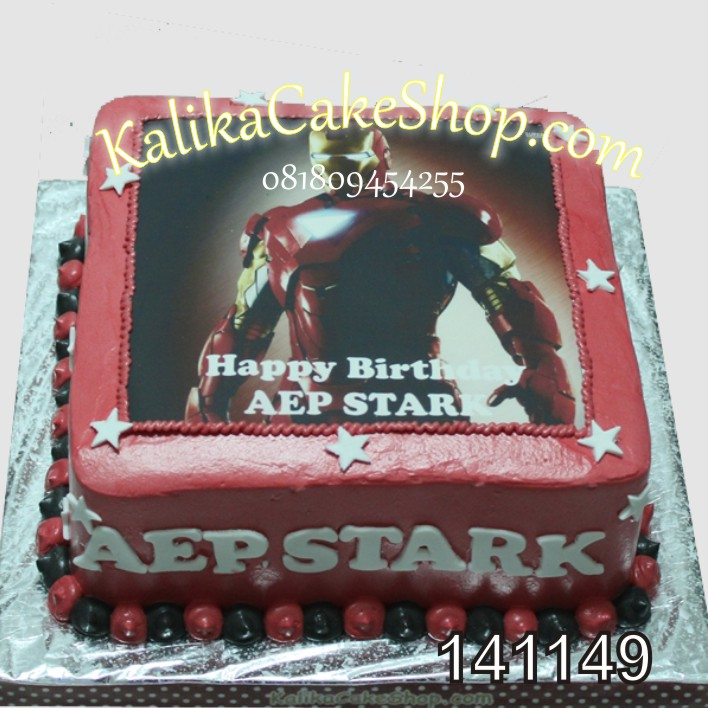 Kue Ulang Thun Iron man AEP