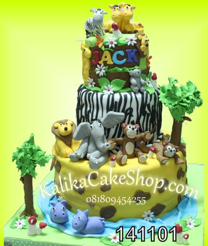 Kue Ulang Tahun Junggle 3 susun Jack