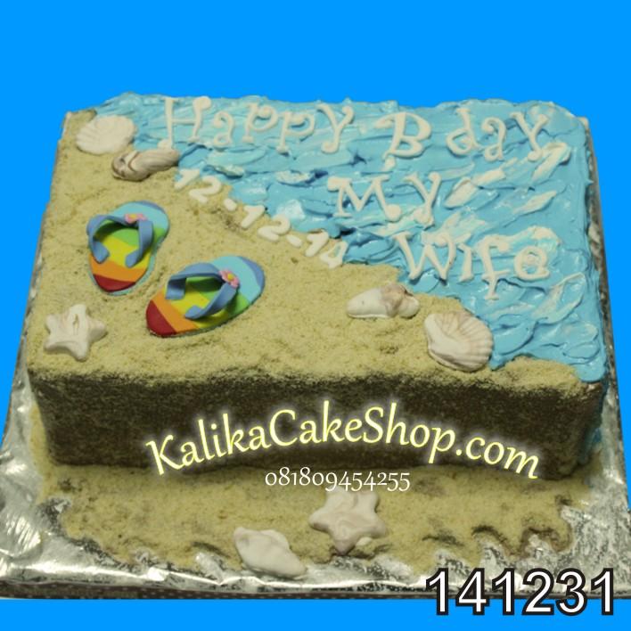 Kue Ulang Tahun Beach