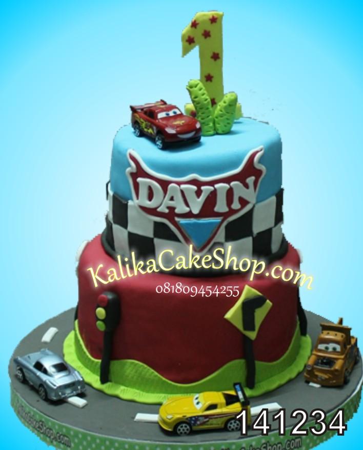Kue Ulang Tahun Cars Davin