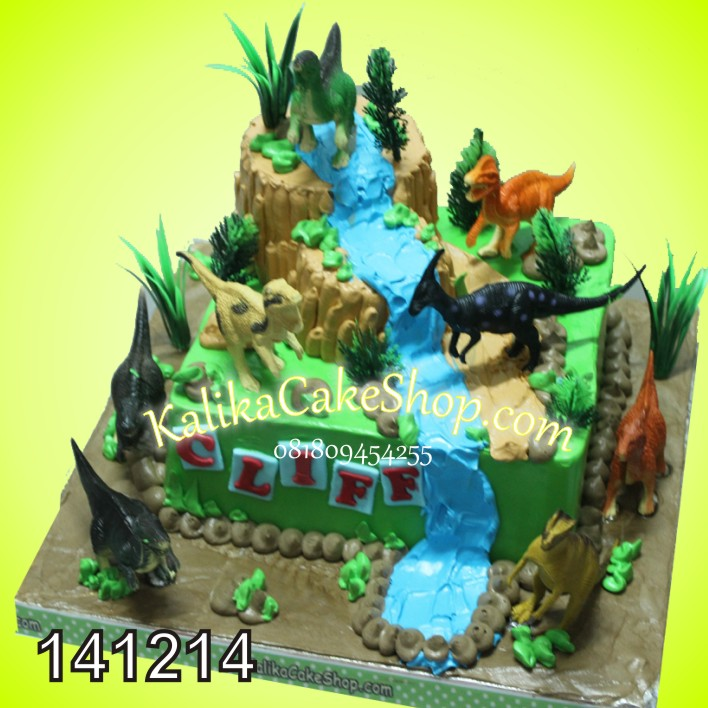 Kue Ulang Tahun Dinosaurus cliff