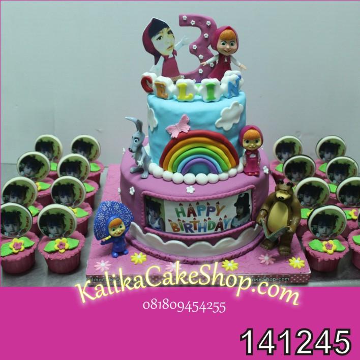 Kue Ulang Tahun Masha Celine