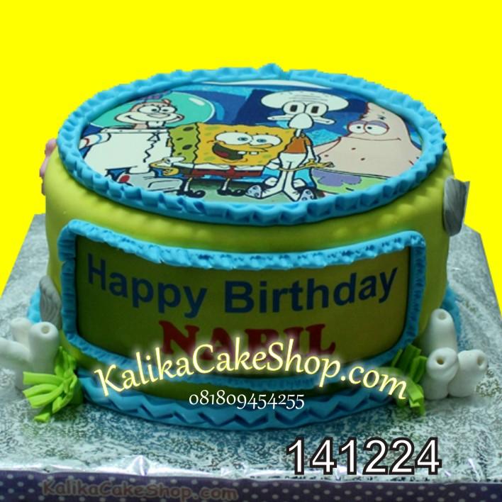 Kue Ulang Tahun SpongeBob Nabil