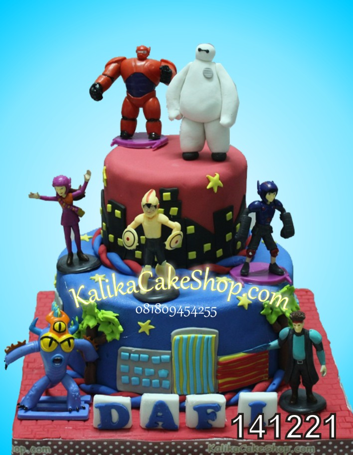 Kue Ulang tahun Big Hero Dafi