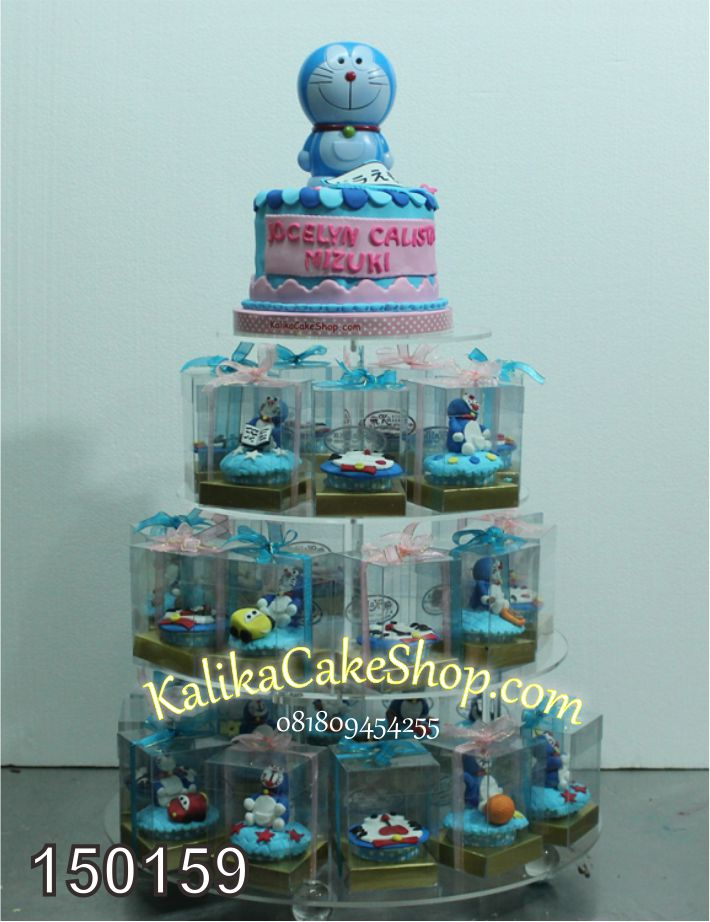 Cup Cake tiers doraemon