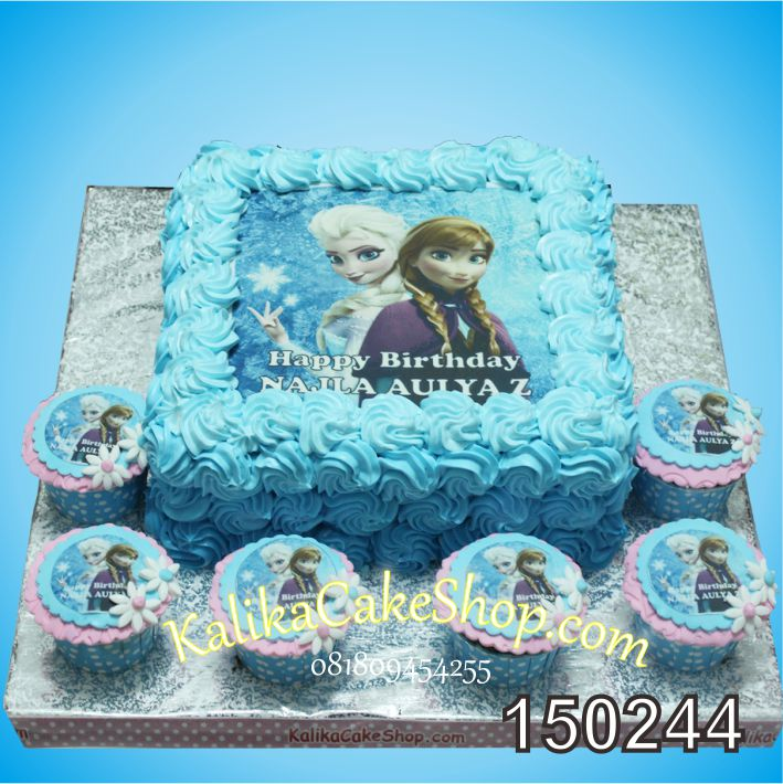 Kue Edible Frozen Aulia & cup cake